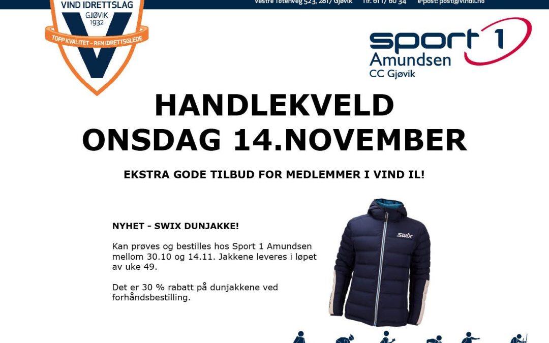 Handlekveld Sport 1 Amundsen