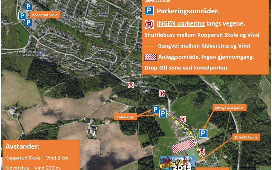 Gjøvik Cup 2019 – Trafikk og Parkering informasjon