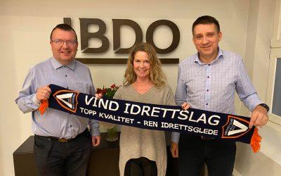 BDO og Vind IL inngår ny samarbeidsavtale!