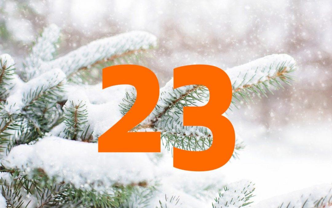 Vind Julekalender – Trekning Lille Julaften 23. desember
