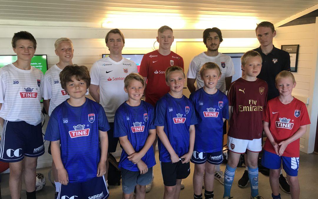 Vellykket debut for Tine efotballskole