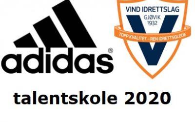 adidas talentskole 2020