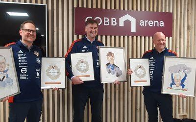 Vind medlemmer hedret under åpningen av GOBB arena
